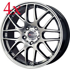 Drag Wheels DR-37 18x8.5 5x112 et30 cb66.56 Hyper Black Rims For A4 S4 B6 Audi