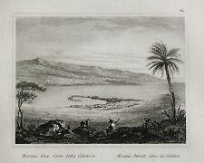 1835:FARO - Ved. MESSINA_COSTE CALABRIA.SICILIA.Passepartout.AUDOT.Acciaio.ETNA