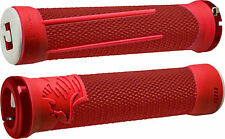 ODI AG2 Lock-On Grips Red/Fire with Red Clamps