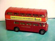 Street Scenes London Red Double Decker Bus Die Cast Metal Harrods vintage
