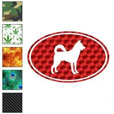 Canaan Oval Dog Decal Sticker Choose Pattern + Size #3645