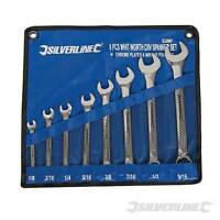 Silverline Spanner Wrench Set in Whitworth WW Sizes in Tool Wrap Holder + Boxed