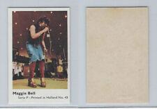 1970 Dutch Gum, Music Artists Mini Card, Series P, #43 Maggie Bell, ZQL