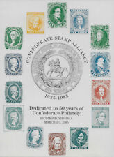 CONFEDERATE ALLIANCE REPRODUCTION SOUVENIR CARD DEPICTING  of ALL 14 STAMPS