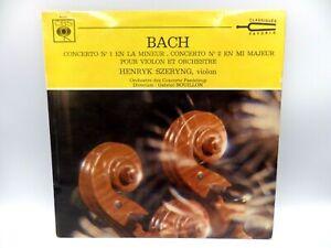 lot DISQUE VINYLE 33T : 33 tours BACH  concerto N°1 et 2 henrik SVERYING