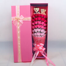 Valentine's Xmas Day Roses Gift Floral Scented Box 33 Soap Flower Box Pink