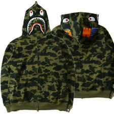 Bathing Ape BAPE Men's Shark Jaw Camo Full Zipper Hoodie Sweats Coat Jacket New1