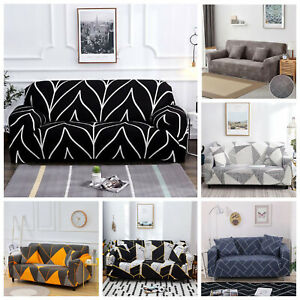 1/2/3/4 Seater Sofa Cover Slipcover Couch Protector Pillow Cushion Cover