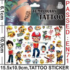 1 Pack  kid paw patrol Tattoo Temporary , Party Supplies  (buy 3 get 1 free )