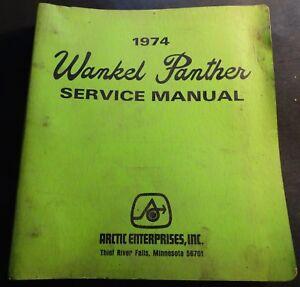 VINTAGE 1974 ARCTIC CAT WANKEL PANTHER SERVICE MANUAL & PARTS MANUAL (148)