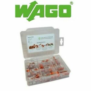 WAGO 221 Series 60281155, 221-412,221-413,221-415 85pcs with case