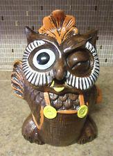 Vintage 60s California Originals Winking Waving Owl Pottery Cookie Jar 856 USA