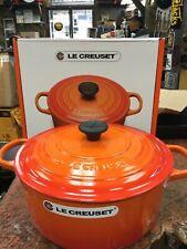 Le Creuset FLAME ORANGE Dutch Oven 7.25 Qt.~Round nib
