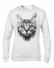 Hypnotised Cat Women's Sweatshirt Jumper - Funny Cat Kitten