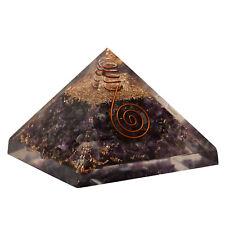 Extra Large Amethyst Stone Pyramids Orgonite (70-75mm) Gemstone Pyramid X-large