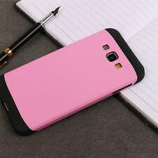 For Samsung Galaxy Fashion Hard Bumper Hybrid Soft Rubber Skin Case Cover