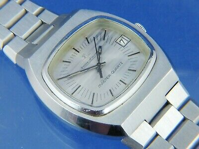 Jaeger LeCoultre Master Quartz Watch Vintage 1970s Girard Perregaux Cal 352