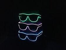 2 Stück Leuchtbrille Blinkbrille LED Neon Party Fun Oktoberfest (dunkle Gläser)