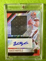 BAKER MAYFIELD AUTO ROOKIE CARD JERSEY PRIZM PATCH RC *RPA* SP 2018 Unparalleled