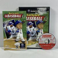 CIB Backyard Baseball (Nintendo GameCube) Complete Case & Manual -Alex Rodriguez