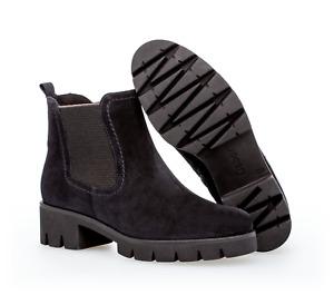 Gabor Damenschuhe Stiefel 93.710.36 pazifik Dreamvelour Chelsea Boots mit RV