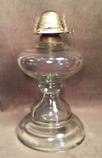 """Beautiful Vintage Clear Glass White Flame Light Co Oil Lamp Base 10 1/2"""" As Is"""