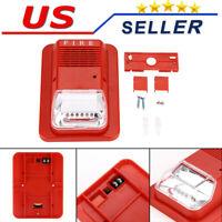 Sound And Light Fire Alarm Warning Strobe Siren Horn Alert Safety System Sensor