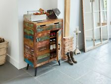 Coastal Chic Shoe Cupboard, Reclaimed Hardwood Furniture By Baumhaus
