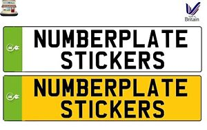 ELECTRIC CAR PLUG IN GREEN NUMBERPLATE NUMBER PLATE STICKER SIGN DECAL VINYL