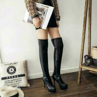 Womens Stiletto High Heels Over the Knee Thigh Boots Platform Nightclub Shoes #3