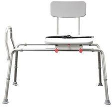 Snap-N-Save Sliding Transfer Bench 77662 w Swivel Seat Bath Safety Shower Chair