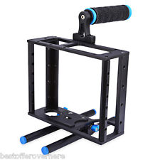 WEIHE Aluminum Alloy Camera Video Cage Kit with Top Handle Grip for Canon 5D Ⅱ