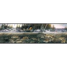 York Wallcoverings Fishing the Falls Wallpaper Border BP8389BD
