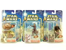 Star Wars Attack of the Clones Action Figure Lot 3pc Yoda Zam Wessel Count Dooku