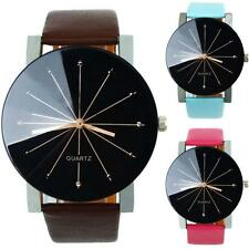 Fashion Men Woman Watch Large Dial Quartz Leather Wrist Watch bracelet Watches
