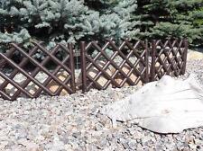 Plastic Garden Fence Panels Boarder Lawn Palisade Edge Patio Fencing BROWN PJPOB