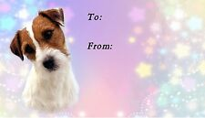 Parson / Jack Russell Terrier Dog Self Adhesive Gift Labels by Starprint