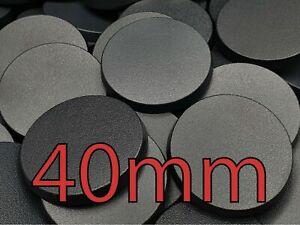 40mm Round Plain Wargaming Plastic Bases Warhammer Brand New Wargames