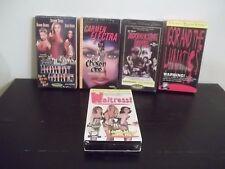 LOT OF 5 SEALED TROMA VHS VIDEOS BLOODSUCKING FREAKS,ROWDY GIRLS,IGOR + LUNATICS
