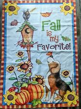 Decorative Outdoor Flag, Large, Dig, Fall leaves Autumn