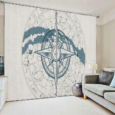 Blue White Pentagram 3D Curtain Blockout Photo Printing Curtains Drape Fabric
