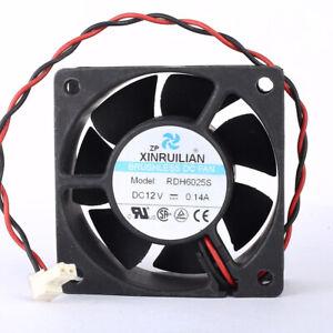 XFAN RDH6025S fan DC12V 0.14A 2pin  60*60*26mm
