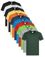 Pour Hommes Coton Uni Basique Manche Courte Col En V T-shirt S-XXL