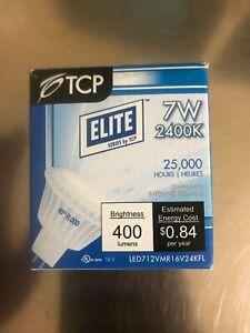 LED TCP Lighting LED712VMR16V24KFL Dimmable MR16 7W=50W 2400k 40D 500lm GU5.3