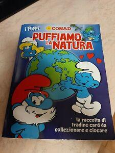 Puffi Puffiamo la Natura Conad Album completo delle 162 figurine