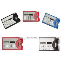 Mini Portable Multifuction 3 In 1 Card Holder Case Solar Power Calculator -