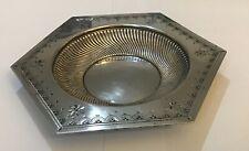 Antique James Dixon & Sons Silver Plate Spiral & Engraved Bonbon Dish