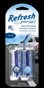 Refresh Your Car!  New Car And Cool Breeze Scent Car Vent Clip  4 pk
