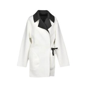 Bolongaro Trevor Blanch Et Noir Coat, New! RRP £185