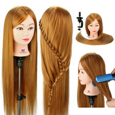 "30"" Salon Hairdressing Training Head Long Hair Mannequin Doll Styling & Clamp UK"